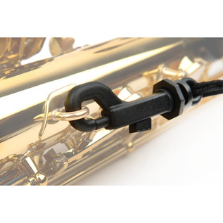 Rico Padded Saxophone Strap, Black with Plastic Snap Hook