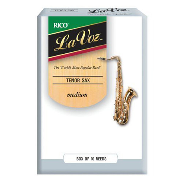 Rico La Voz Tenor Saxophone Reeds Medium, 10 Box