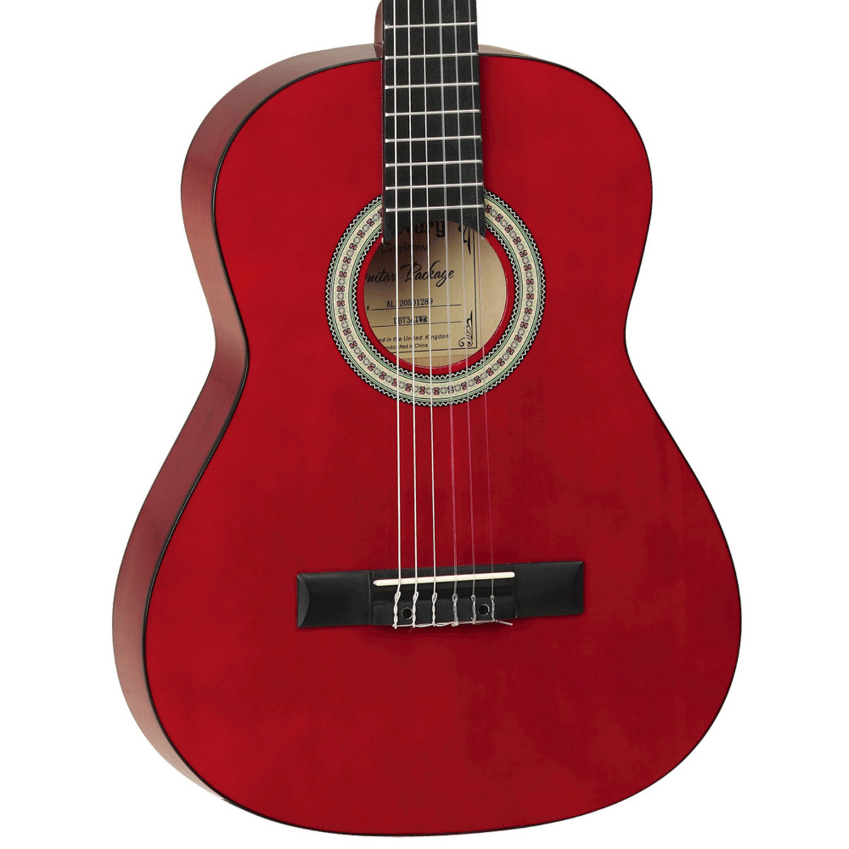 Tanglewood guitare classique 3 4 rouge transparent for The tanglewood