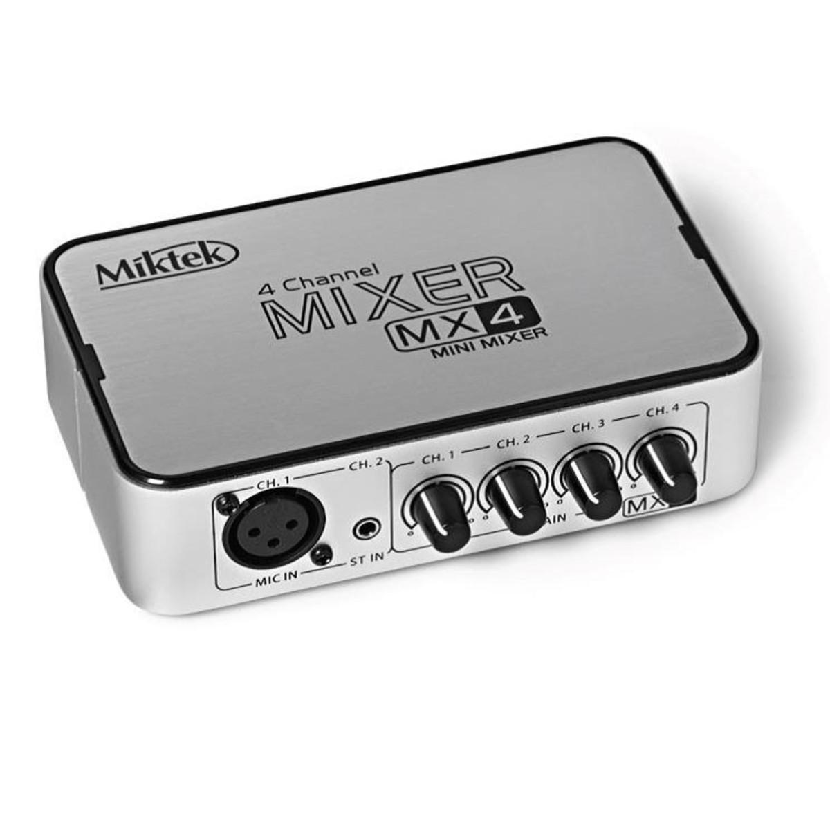 Miktek Mx4 4 Channel Mixer At Gear4music