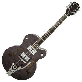 Gretsch G6120SH Brian Setzer Hot Rod, Tuxedo Black 2-Tone/Flame Maple