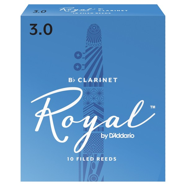Royal by D'Addario Bb Clarinet Reeds 3.0 Strength, Pack of 10