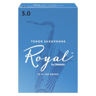 Royal by D'Addario Tenor Saxophone Reeds 3.0 Strength, Pack of 10