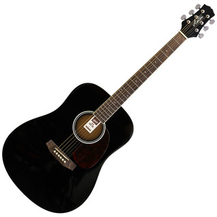 Ashton D20 Dreadnought Acoustic Guitar, Black