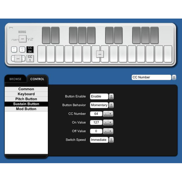 Korg nano KEY 2 USB MIDI Controller, Black 4