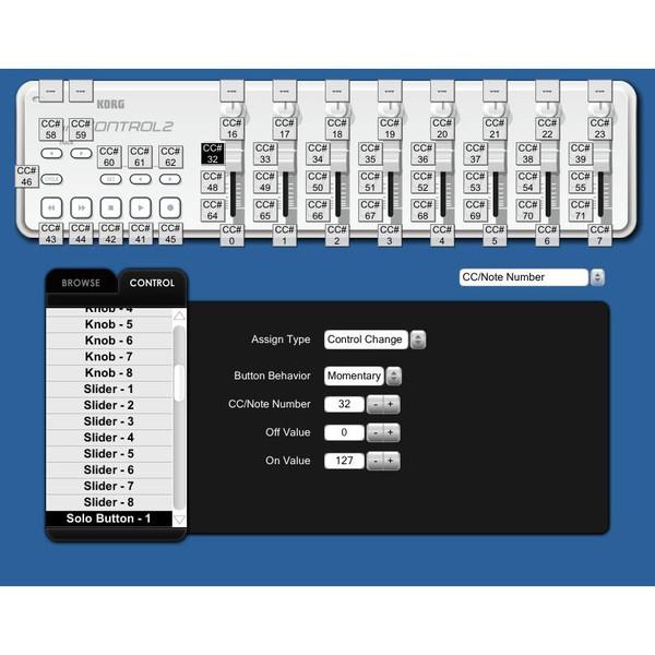Korg nano KONTROL 2 USB MIDI Controller, White 4