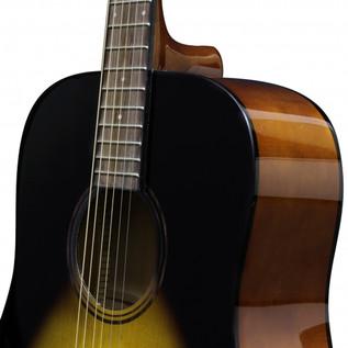 Ashton D20 Dreadnought Acoustic Guitar, Tobacco Sunburst