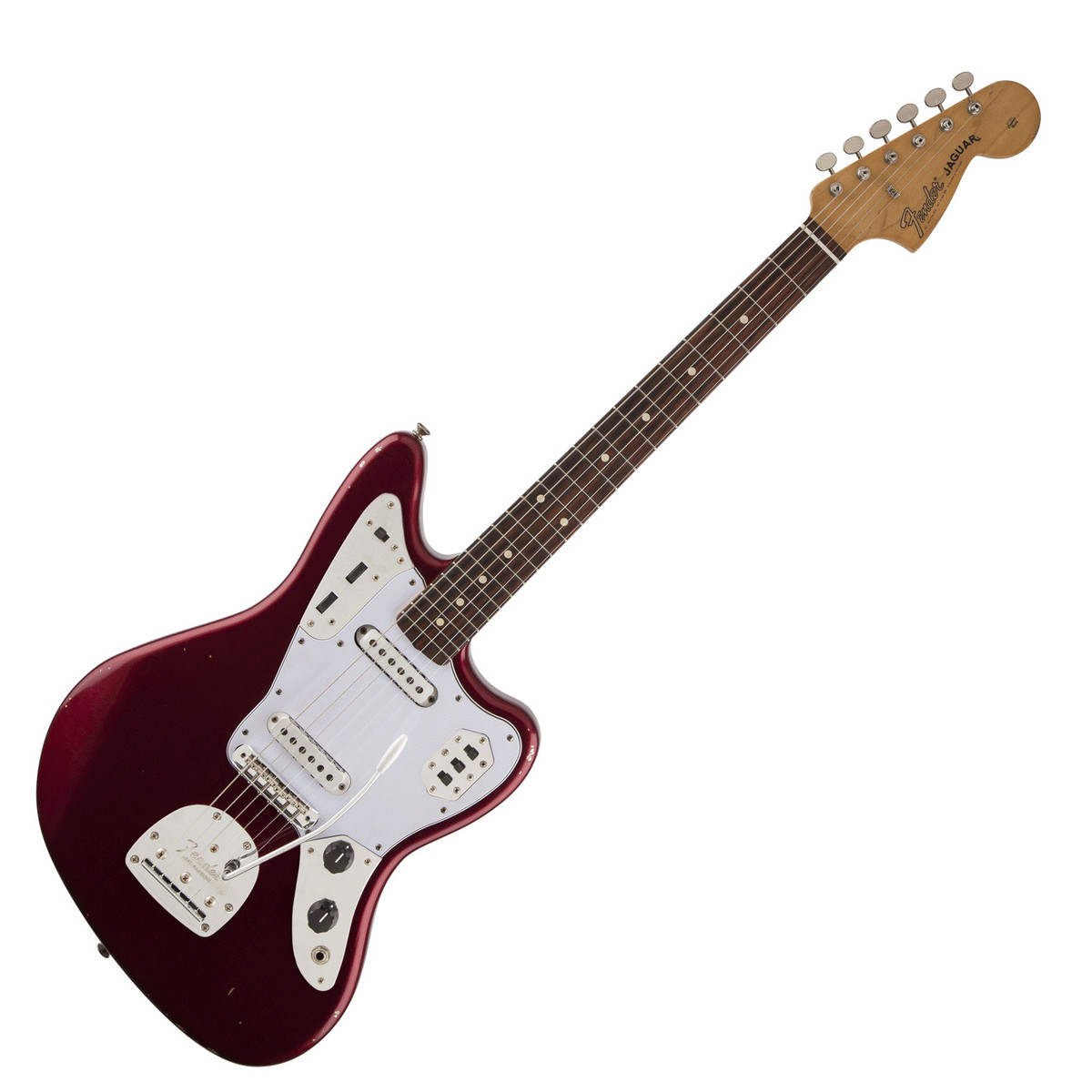 fender road worn 60s jaguar electric guitar candy apple red at gear4music. Black Bedroom Furniture Sets. Home Design Ideas