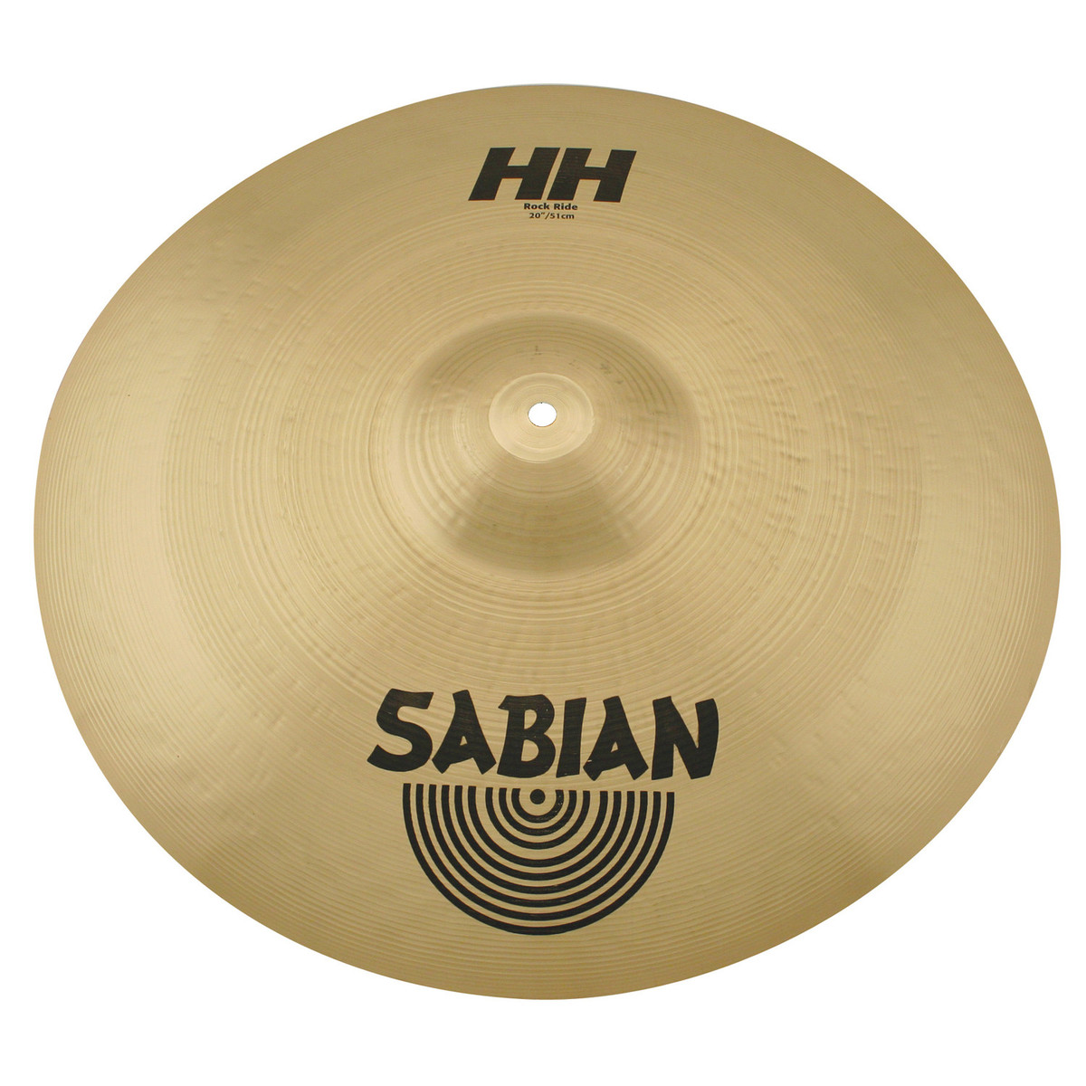 disc sabian hh 20 39 39 rock ride cymbal natural finish at gear4music. Black Bedroom Furniture Sets. Home Design Ideas