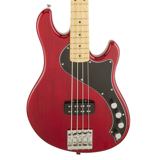 Squier by Fender Deluxe Dimension Bass IV, Crimson Red Trans