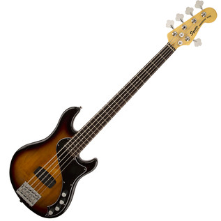 Squier by Fender Deluxe Dimension 5 String Bass V, 3-Color Sunburst
