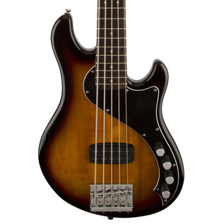 Squier by Fender Deluxe Dimension 5 String Bass V, 3-Color Sunburst