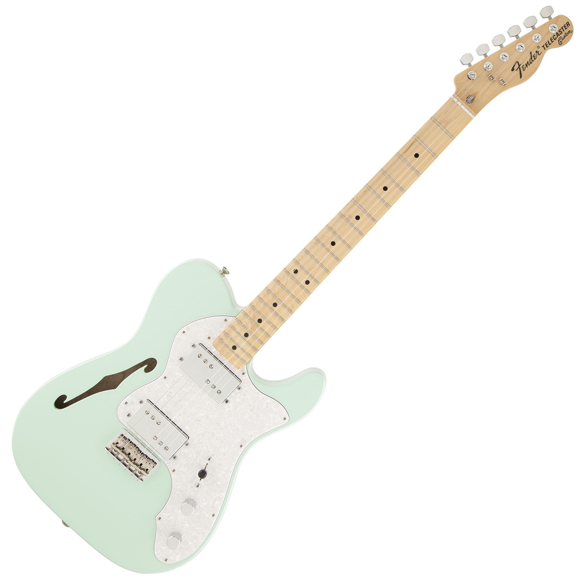fender special edition 39 72 tele thinline mn surf green at gear4music. Black Bedroom Furniture Sets. Home Design Ideas