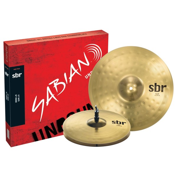 Sabian SBR Cymbal First Pack, 13'' Hi-Hats, 16'' Crash Cymbals