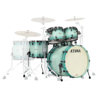 Tama Starclassic Bubinga 22'' 4 Piece Shell Pack, Light Jade Burst