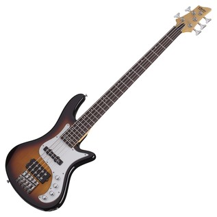 Schecter Stiletto Vintage-5 Bass Guitar, 3-Tone Sunburst