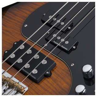 Schecter Diamond-P Plus Bass Guitar, Dark Sunburst