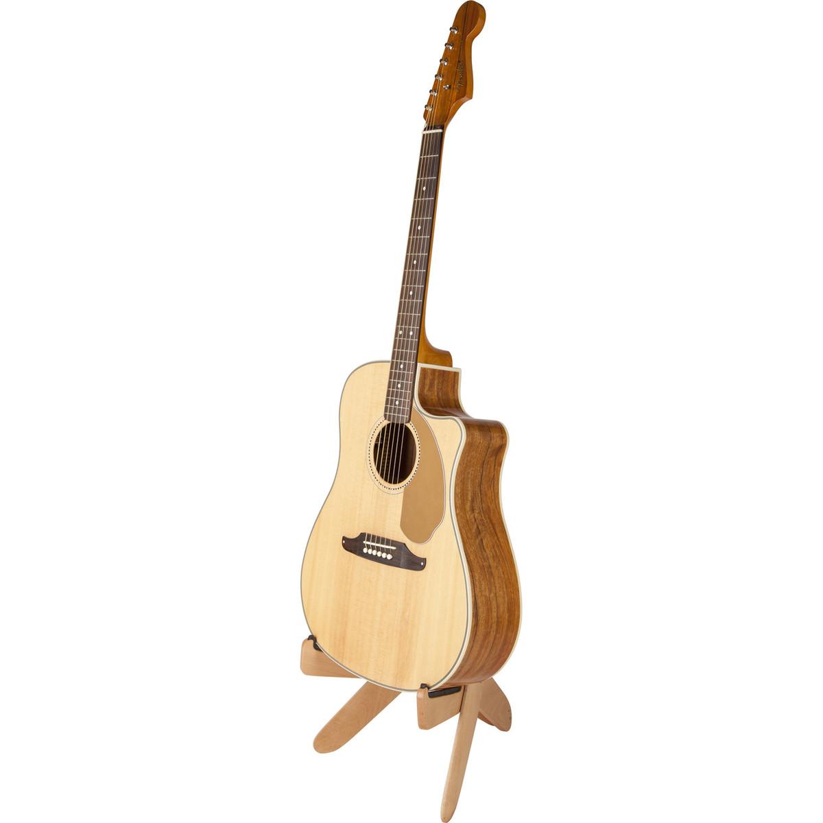 disc fender jacknife wood acoustic guitar stand natural at gear4music. Black Bedroom Furniture Sets. Home Design Ideas