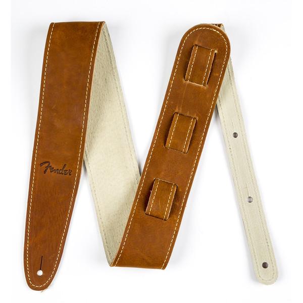 Fender Ball Glove Leaver Strap, Brown