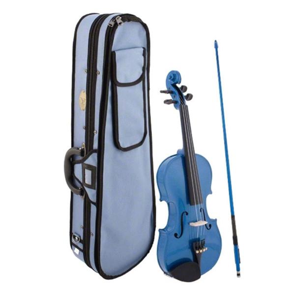 Stentor Harlequin Viola Outfit, Blue, 15 Inch - Ex Demo