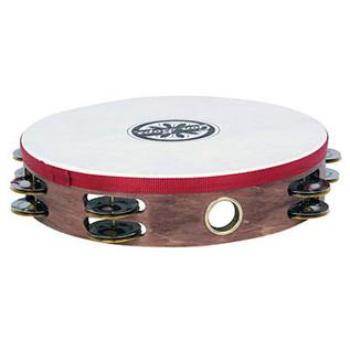 Gon Bops Wooden Tambourine Double-row jingles w/head