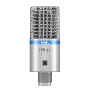 IK Multimedia iRig Mic Studio Large Diaphragm Digital Mic, Silver