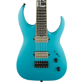 Jackson Misha Mansoor Bulb HT 7 Electric Guitar, Matte Blue Frost