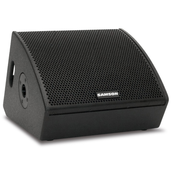 Samson RSXM10A 2-Way Active Stage Monitor, Front Angled Right