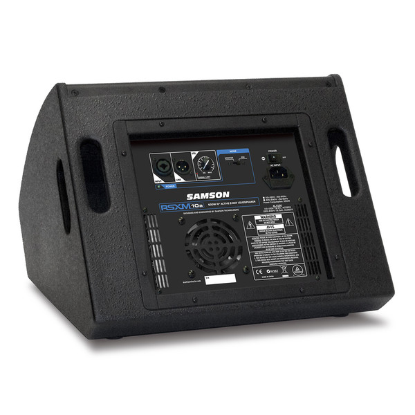 Samson RSXM10A 2-Way Active Stage Monitor, Rear Panel