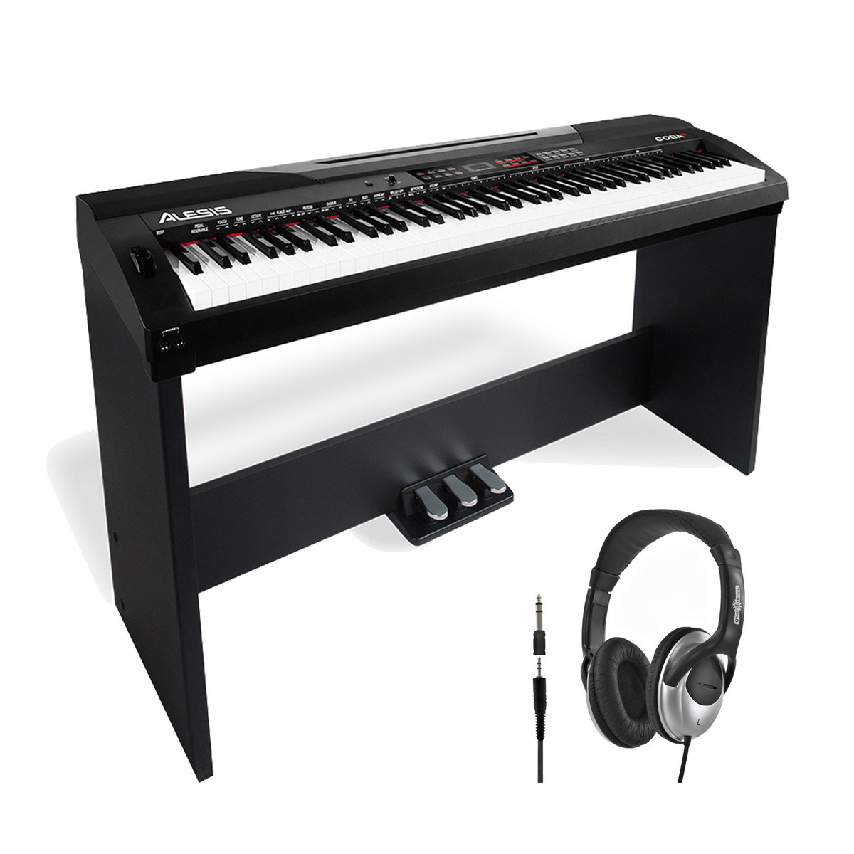 alesis coda pro 88 key digital piano with stand and free headphones at gear4music. Black Bedroom Furniture Sets. Home Design Ideas