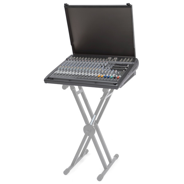 Samson S4000 Powered Mixer, Lid Up (Stand Not Included)