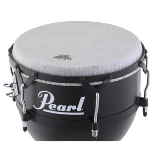 Pearl Field Percussion Fiberglass Djembe, Textured Black