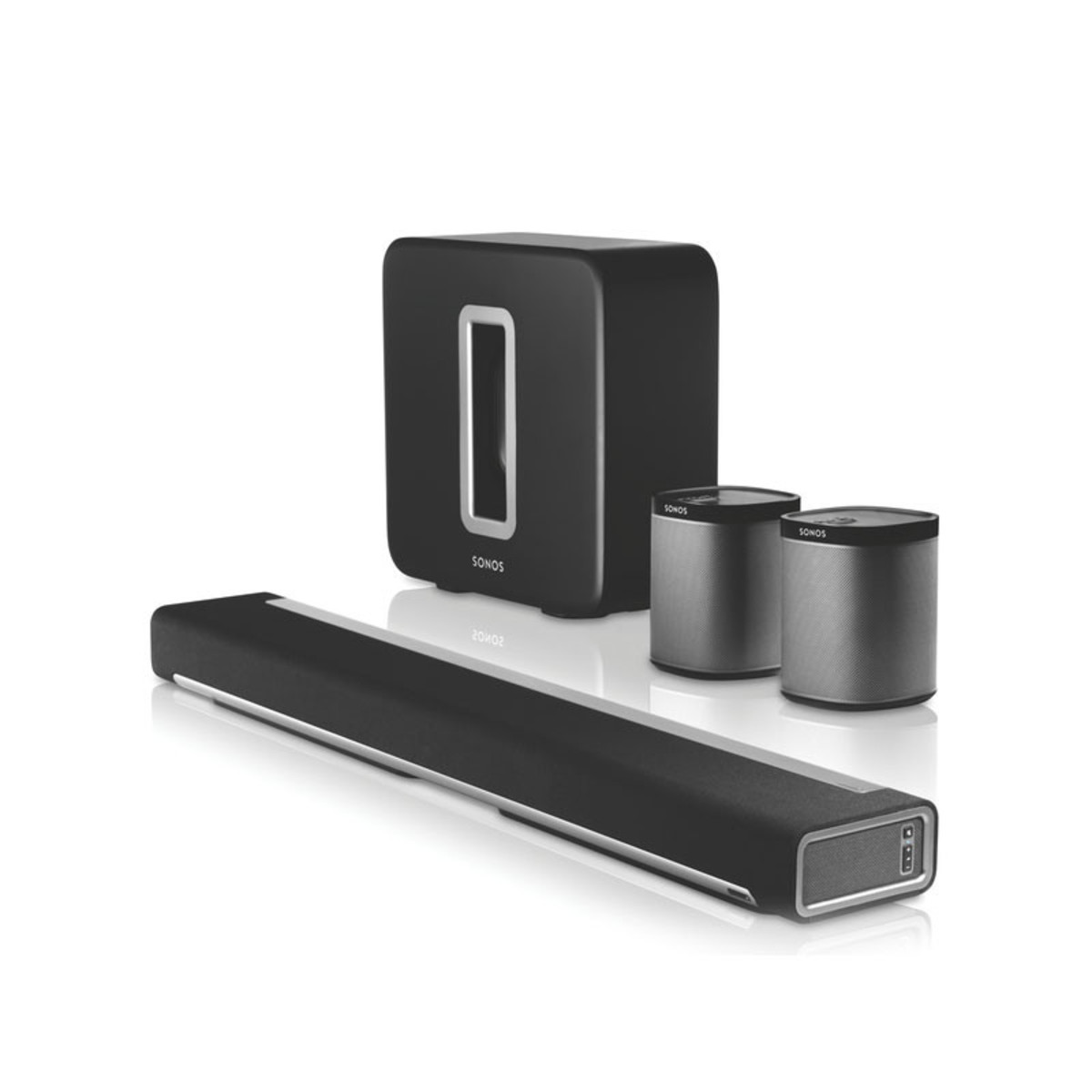 sonos playbar play 1 and sub 5 1 wireless cinema bundle. Black Bedroom Furniture Sets. Home Design Ideas