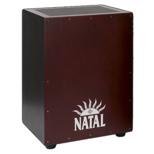 Natal Andante XL Cajon, Snare Wires, Birch Black Red Face