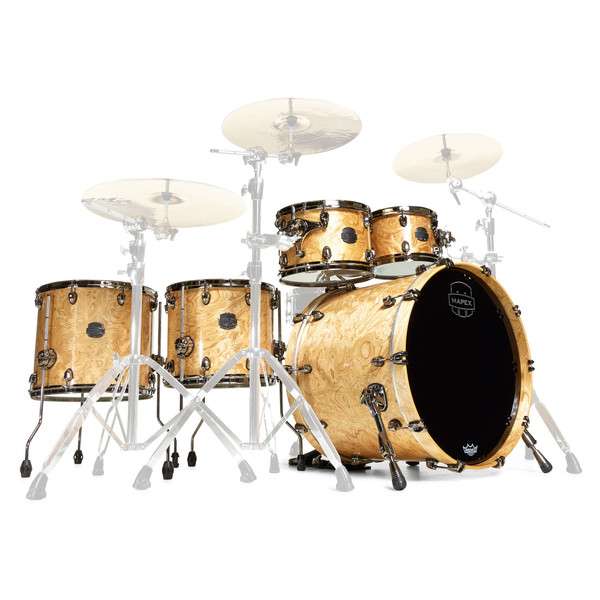 Mapex Saturn V MH Exotic Series Sound Wave Twin, Natural Maple Burl