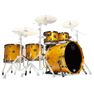 Mapex Saturn V MH Exotic Series Sound Wave Twin, Amber Maple Burl