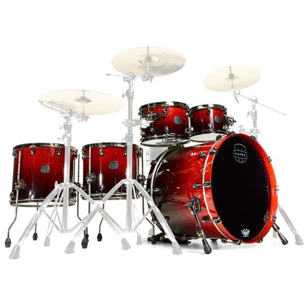 Mapex Saturn V MH Exotic Sound Wave Twin, Cherry Mist Maple Burl