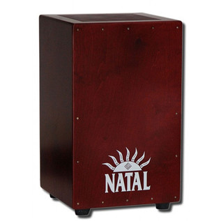Natal Andante Large Cajon, Snare Wires, Birch Black Red Face