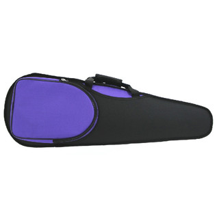 GSJ Shaped 4/4 Violin Case, Black and Purple