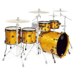 Mapex Saturn V MH Exotic Series Sub Wave Twin, Amber Maple Burl