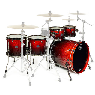 Mapex Saturn V MH Exotic Series Sub Wave Twin, Cherry Mist Maple Burl