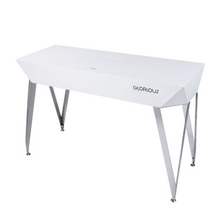 Glorious Diamond DJ Table, White