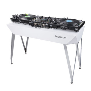 Glorious Diamond DJ Table, White 3
