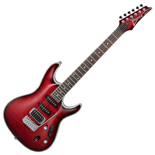 Ibanez SA360QM SA Series Electric Guitar, Trans Red Burst