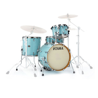 Tama Silverstar Custom 18'' 4 Piece Shell Pack, Light Blue Lacquer