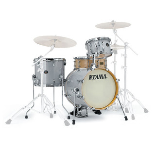 Tama Silverstar 18'' 4 Piece Shell Pack, White Sparkle