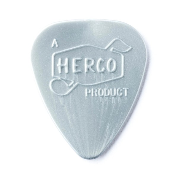 Dunlop Herco Vintage '66 Heavy Silver Pick, Pack of 6