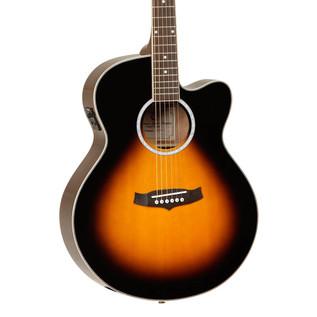 Tanglewood Discovery Super Jumbo Electro Acoustic Guitar, Sunburst