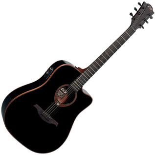 LAG T100DCE Electro-Acoustic Guitar, Black