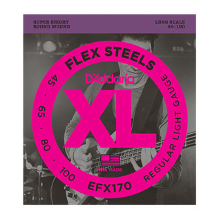 D'Addario EFX170 FlexSteels Bass, Light, 45-100, Long Scale